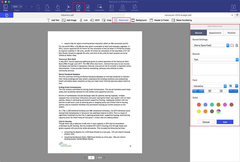 pdf watermark software free download