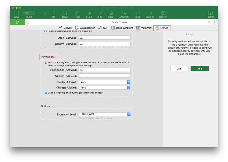 add password to pdf