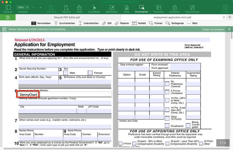 4 Möglichkeiten, Konvertieren von PDF in füllenden Formular
