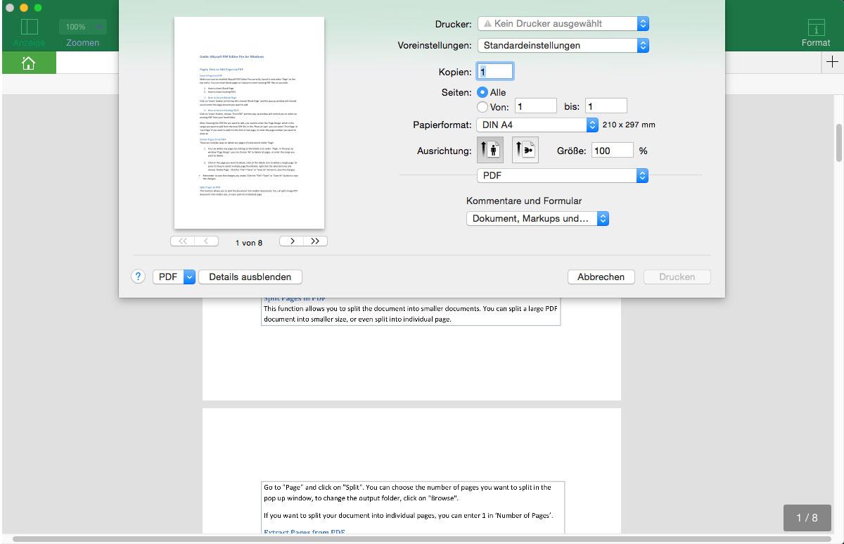 Tipps und Tricks zum Drucken in PDFs auf iPad, iPhone und