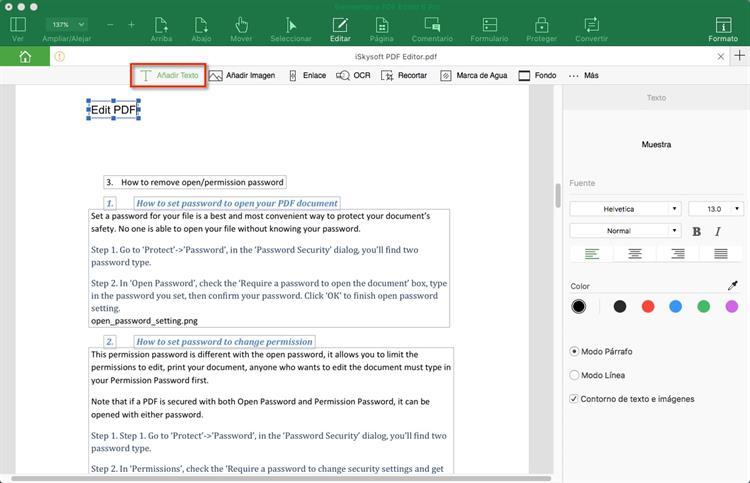 como editar documentos pdf en mac