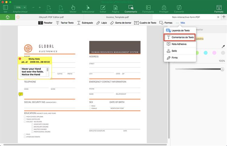 crear pdf rellenable