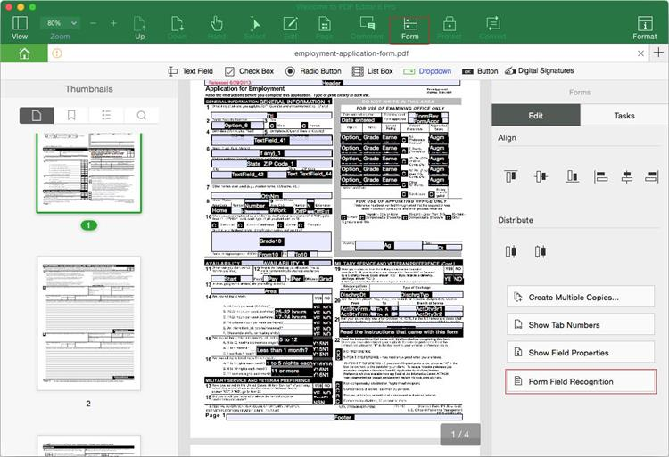 create interactive forms automatically in pdf