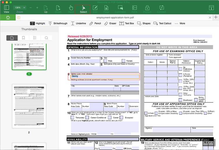 create pdf interactive forms