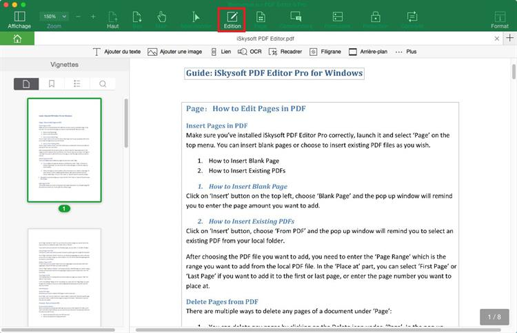 Comment convertir un pdf en word mac