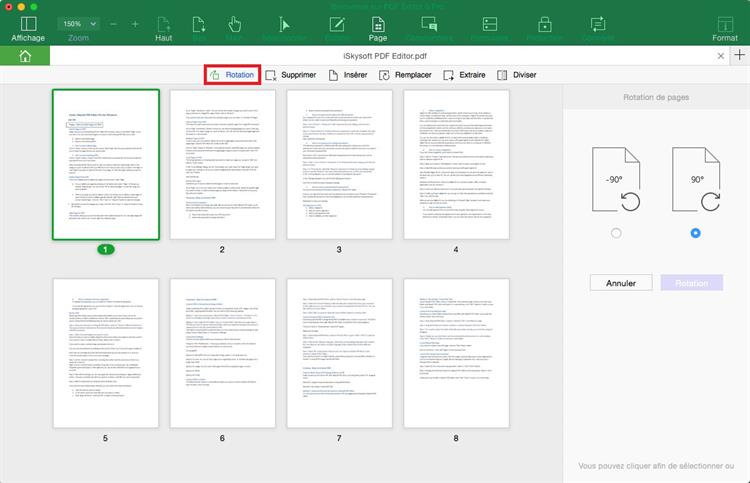 how to rotate pdf document permanently
