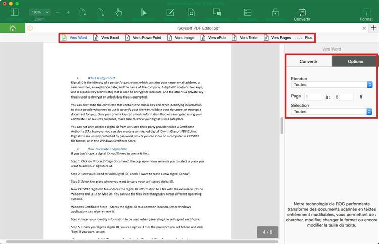convertir pdf en mot