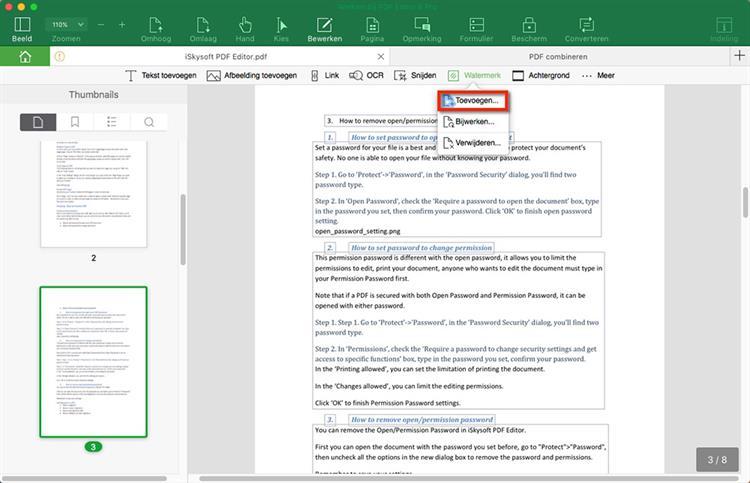 Add Watermark to PDF