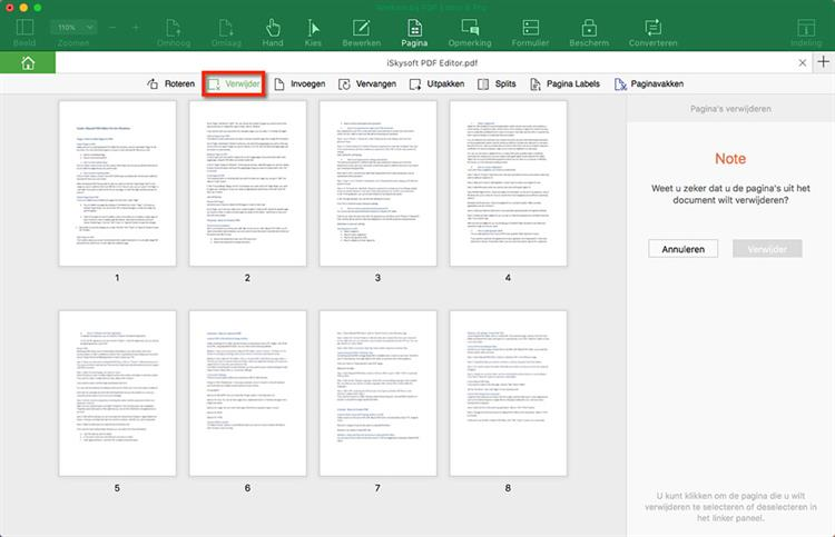 Delete PDF Page