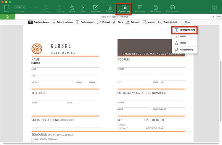 edit pdf non-interactive forms
