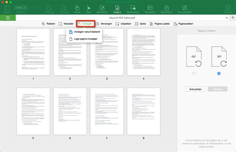 Insert Page to PDF