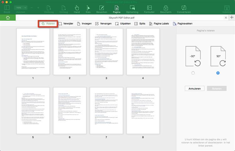 Rotate PDF Page