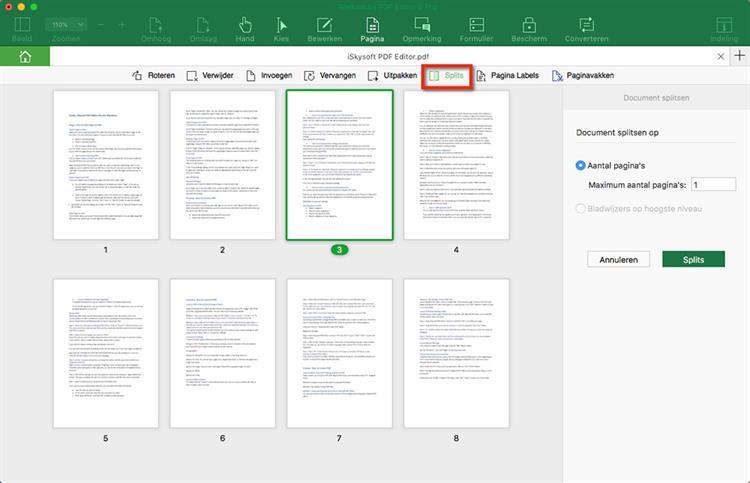Split PDF Page