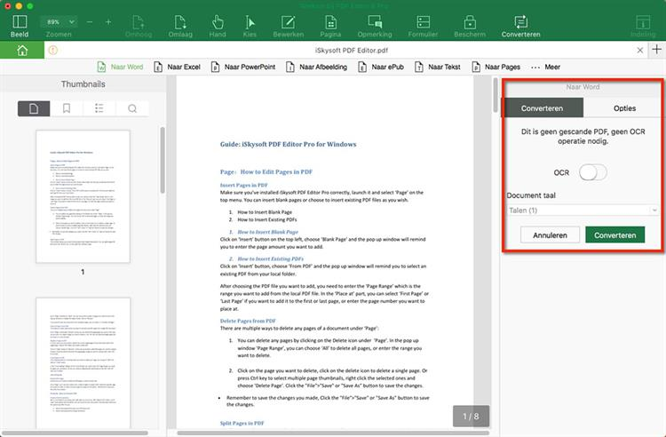 Start Converting PDF