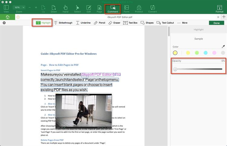 uhighlight text in pdf