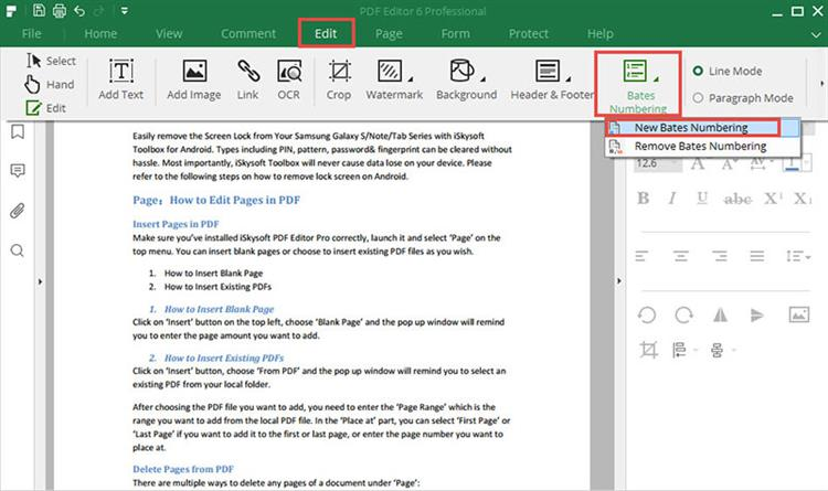 add page numbers to pdf file