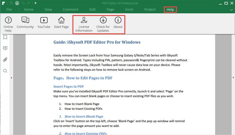 update for iSkysoft PDF Editor