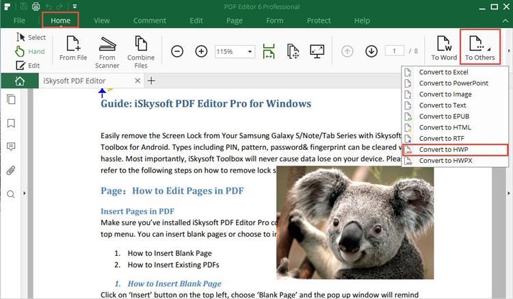 convert pdf to hwp