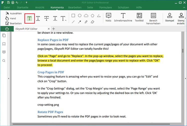 how to highlight text in image pdf