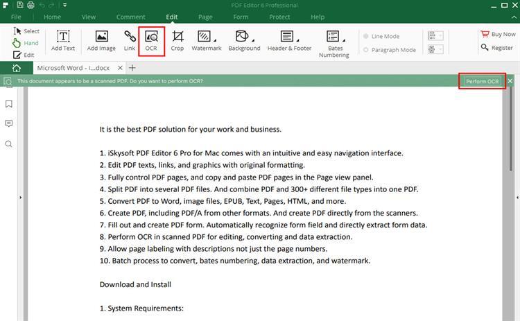 modify pdf files iskysoft pdf editor
