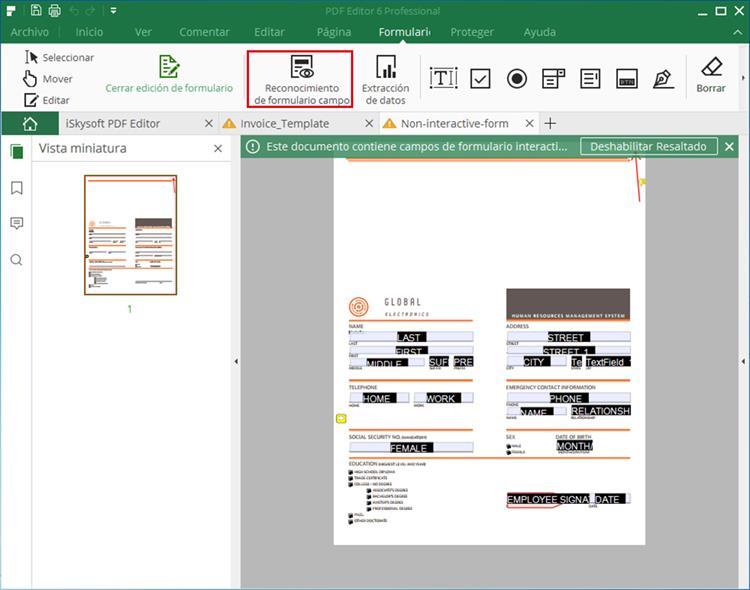 Crear Formularios PDF