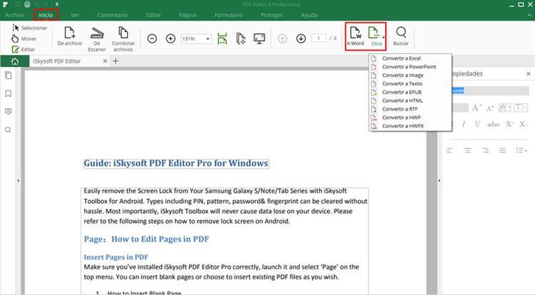 como pasar un archivo de word a pdf