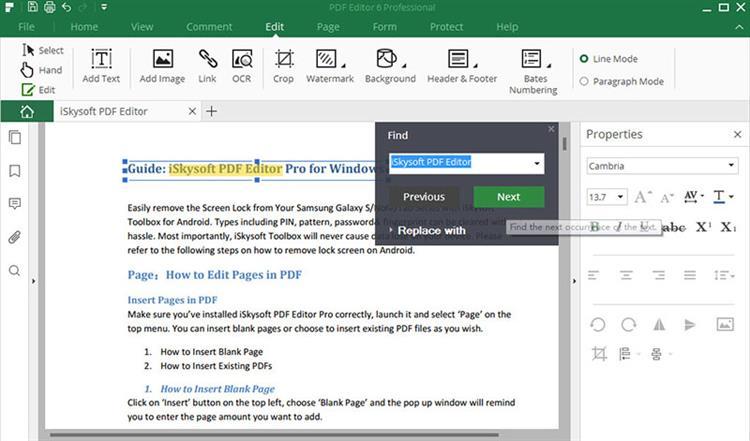 find pdf text