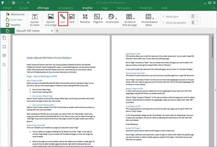 add links to pdf
