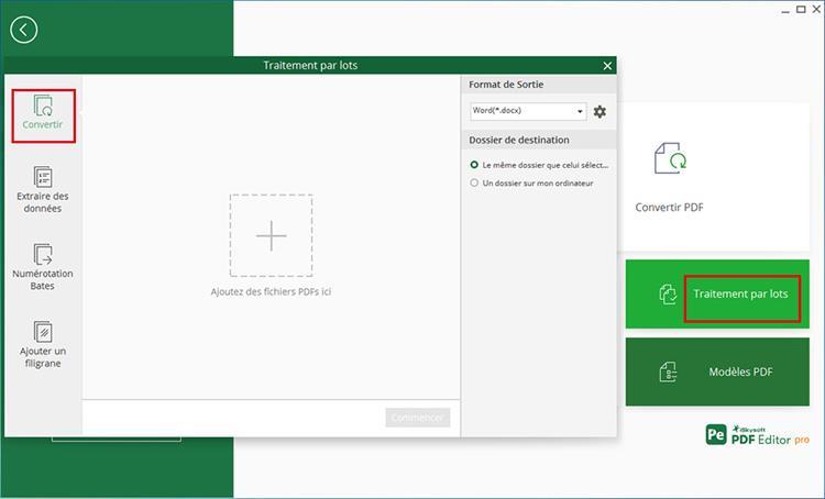 convert pdf in batch