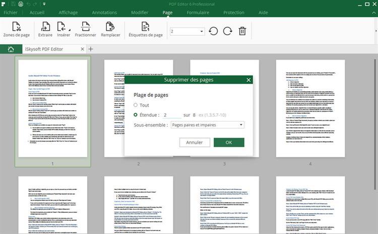 supprimer des pages pdf sur Windows