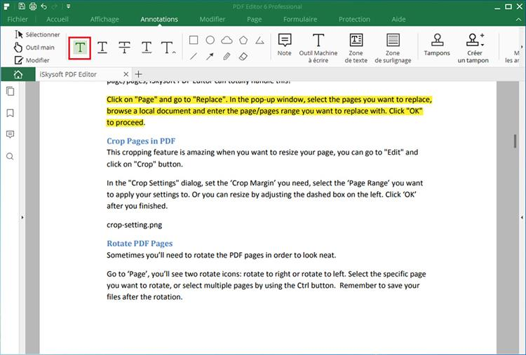 highlight text in pdf