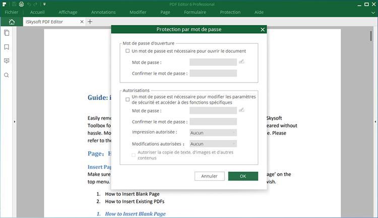 set password in pdf