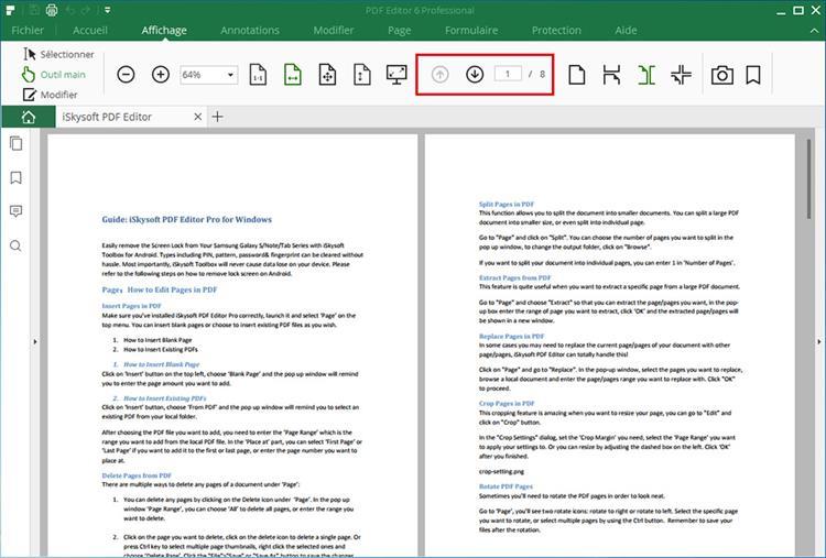 pdf page navigation