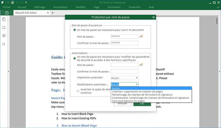 set permission password in pdf