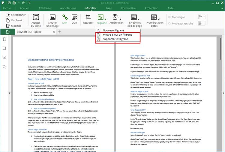 remove pdf watermark
