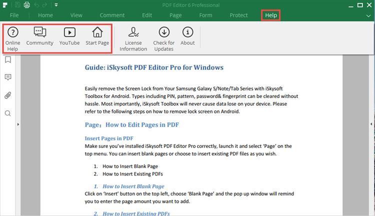 iSkysoft PDF Editor help center