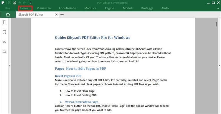 iSkysoft PDF Editor home