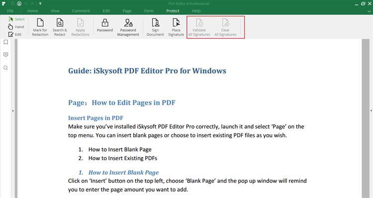 clear signature in pdf