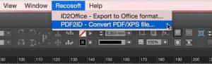 PDF2ID converti pdf in indesign cc