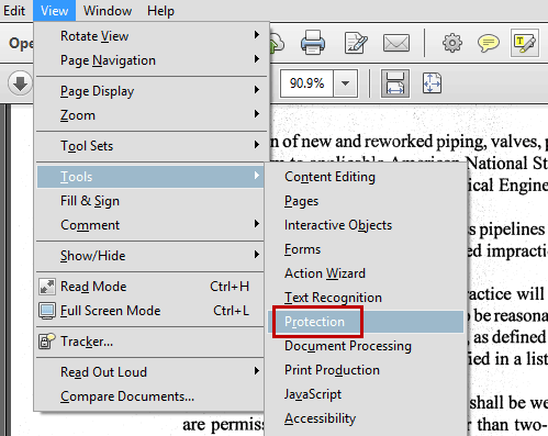 how to password protect a pdf in adobe reader
