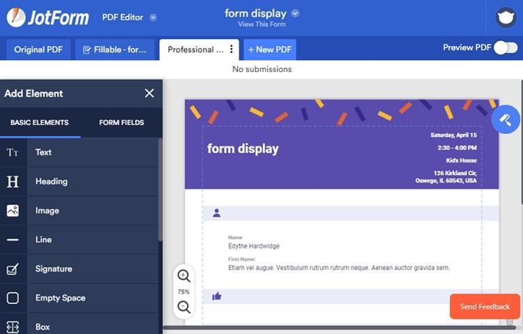 créateur de formulaires pdf gratuits