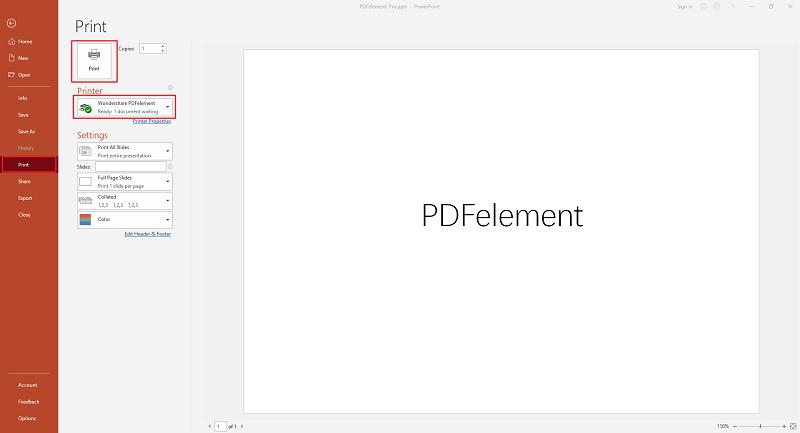 print ppt to pdf