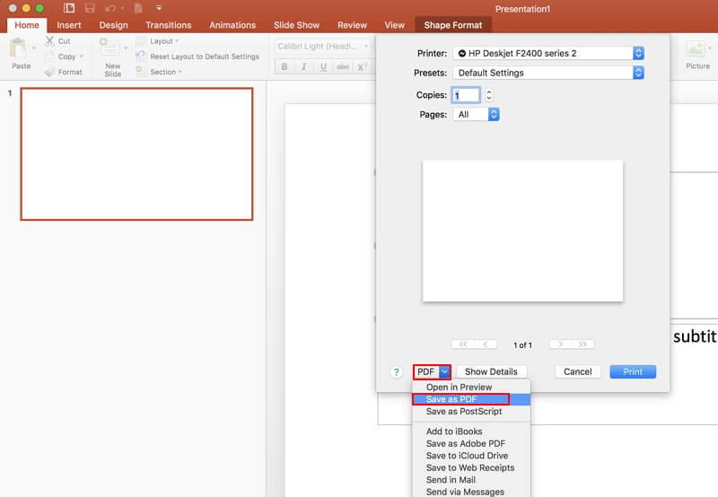 convert ppt to pdf on mac