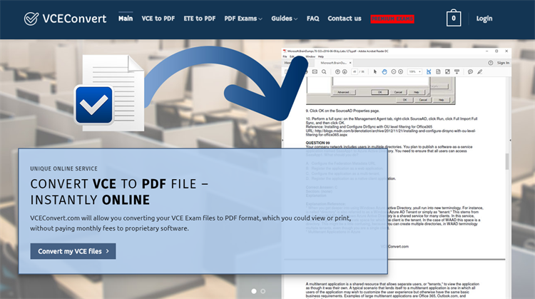 convert vce file to pdf online free