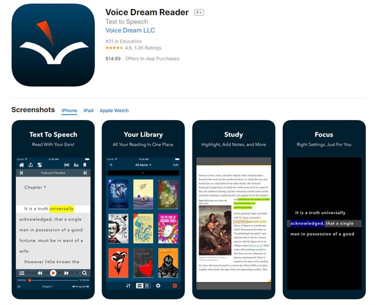 voice dream for ios