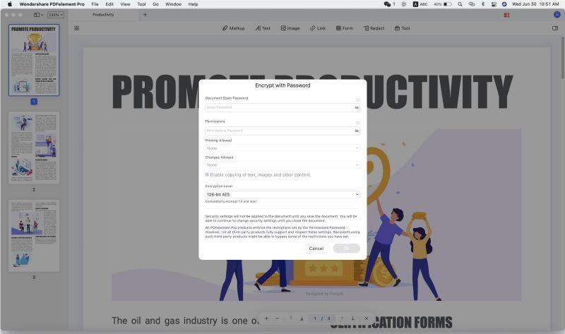 mac pdf password