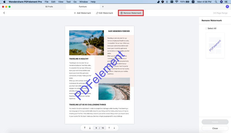 delete watermark from pdf