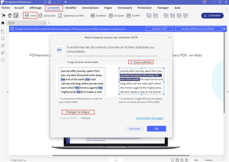 reconnaissance de texte au format pdf