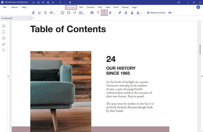 add text box to pdf