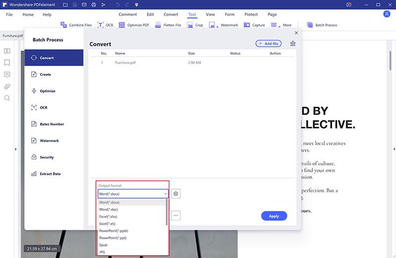 convert pdf file on windows in batch
